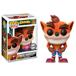 Figura POP Crash Bandicoot Flocked Exclusive