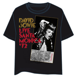 Camiseta David Bowie Live Santa Monica adulto