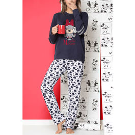 Pijama Minnie Heads Disney adulto