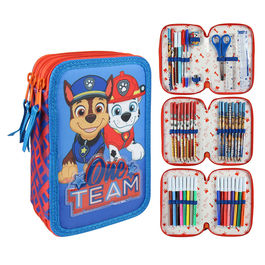 Plumier Patrulla Canina Paw Patrol triple Giotto