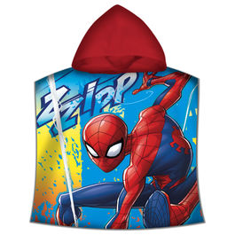 Marvel Spiderman cotton poncho towel