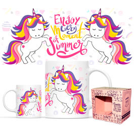 Taza Enjoy Every Moment Of Summer Unicornio Full Print