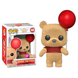 Figura POP Disney Winnie Pooh with Red Balloon Flocked Exclusive