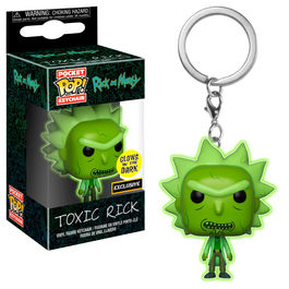 Llavero Pocket POP Rick & Morty Toxic Rick Exclusive