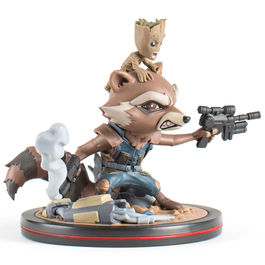 Figura Rocket y Groot Guardianes de la Galaxia Marvel 14cm