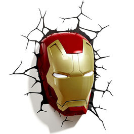 Lampara led 3D pared Iron Man Marvel