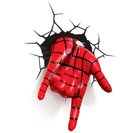 Lampara led 3D pared Mano Spiderman Marvel