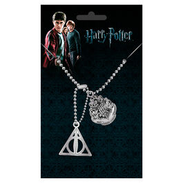Colgante placas identificacion Crest and Hallows Harry Potter