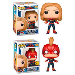 Figura POP Marvel Capitana Marvel 5 + 1 Chase