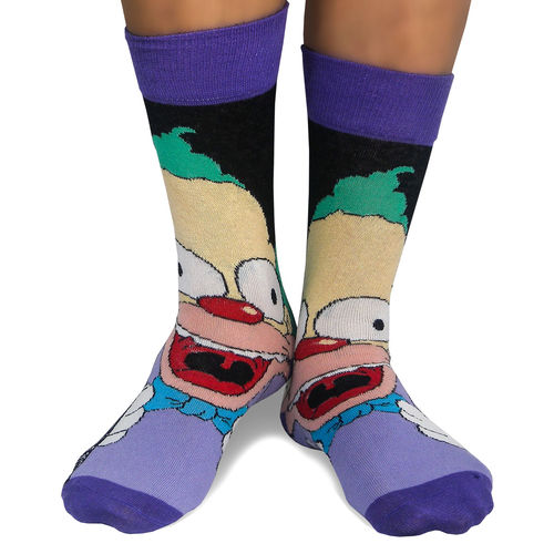 Pack 2 calcetines Krusty el Payaso Los Simpsons surtido