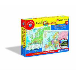 Mapa Geo Europa  + juego webcam Vicens Vives