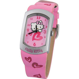 Reloj analogico Hello Kitty rosa caja metalica*