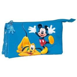 Neceser Mickey & Pluto Disney triple