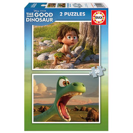 Puzzles The Good Dinosaur Disney 2x20pz