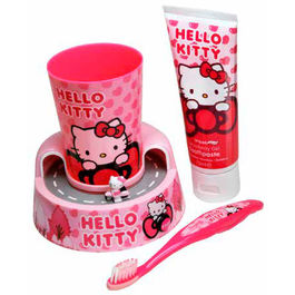 Set cepillo dientes Hello Kitty