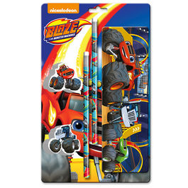 Stationary set Blaze and the Monster Machine notepad pencil case 5 pcs