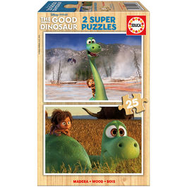 Puzzle The Good Dinosaur Disney 2x25pz