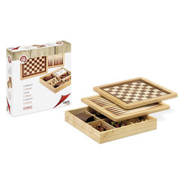 Ajedrez Damas Backgammon Marqueteria