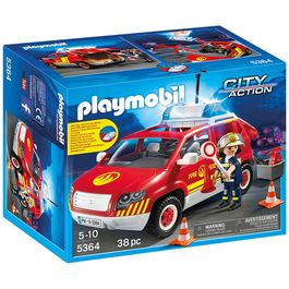 Coche jefe bomberos Playmobil City Action luces sonido