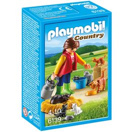 Playmobil Country  Farm woman with cat family