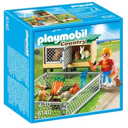 Playmobil Country Farm Rabbit Pen with hutch