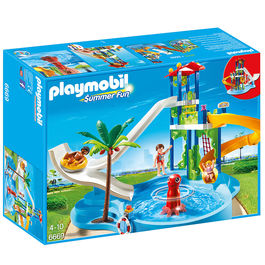 Playmobil Summer Fun Water Park with Slides Playset