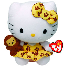 Peluche Hello Kitty TY Beanie Babies Safari 15cm
