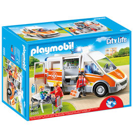 Ambulancia Playmobil City Life luces sonido