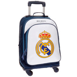 Trolley Real Madrid Campus blanco 4r 50cm