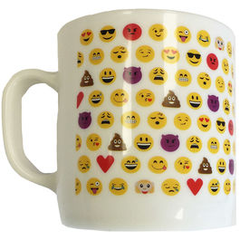 Emoticonworld mosaic white plastic cup