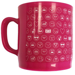Taza Emoticonworld mosaico rosa