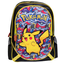 Mochila Pokemon Pikachu adaptable 43cm