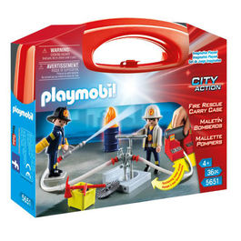 Playmobil City Action Firefighter carry case