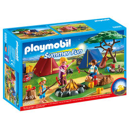 Playmobil Summer Fun Camp with campfire