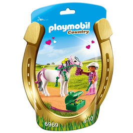 Playmobil Country Rider with pony heart