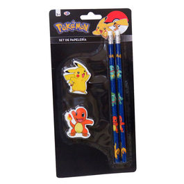 Set papeleria Pokemon Pikachu 4pzs