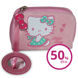 Monedero con espejo Pink Hello Kitty