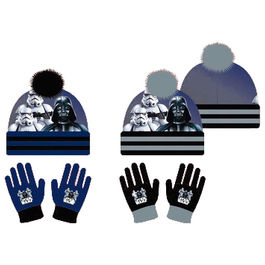 Set gorro guantes Star Wars surtido