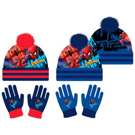Set gorro guantes Spiderman Marvel surtido