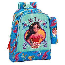 Mochila + portatodo Elena de Avalor Disney 42cm adaptable
