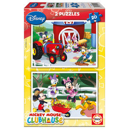 Puzzles Mickey Club House Disney 2x20pz
