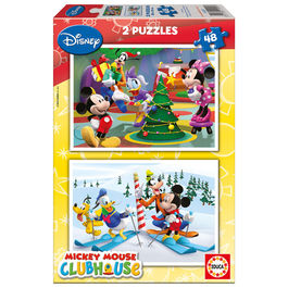 Puzzles Mickey Club House Disney 2x48pz