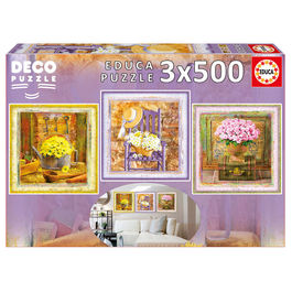 Puzzle Deco Enchanted Moments Gail Marie 3x500pz