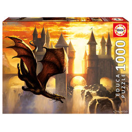 Puzzle Sunset Dragon Ciruelo 1000pz