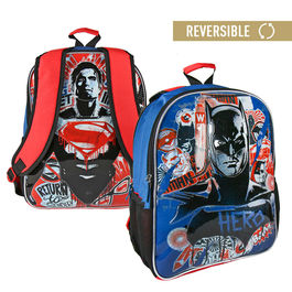 Mochila reversible Batman vs Superman DC 41cm