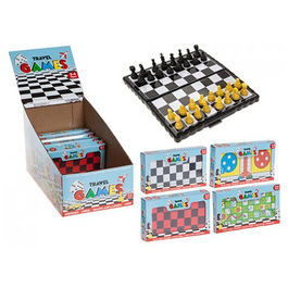 Assorted magnetic travel games
