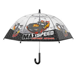 Paraguas antiviento transparente Cars Disney Max Speed 42cm