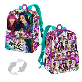 Mochila reversible Descendientes Disney 38cm