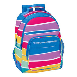 Mochila United Colors of Benetton Stripes 42cm adaptable