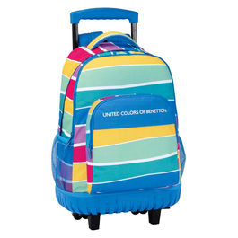Trolley compact United Colors of Benetton Stripes 45cm